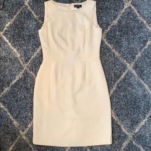 Tahari ivory sleeveless midi dress work dress 6